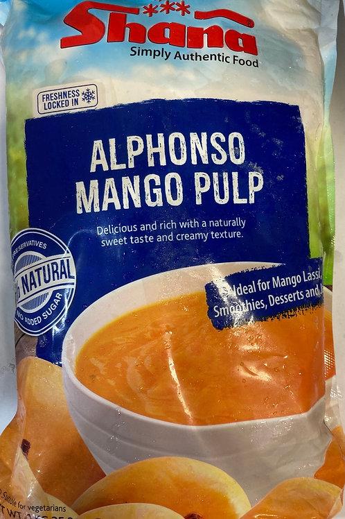 Shana Alphanso Mango Pulp (frozen) - 1Kg