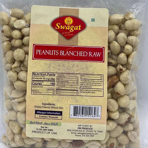 Swagat Peanut Blanched Raw - 14oz/400 gms