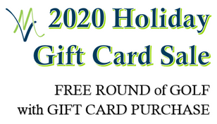 FREE Golf with Gift Card Purchase thru Christmas!