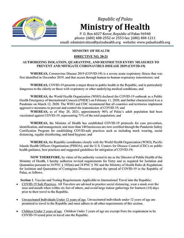 MOH Directive No. 20-21-Re-Authorizing COVID-19 Quarantine Measures-06172021-1.png