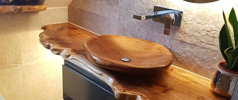 Handcrafted Wooden Basin