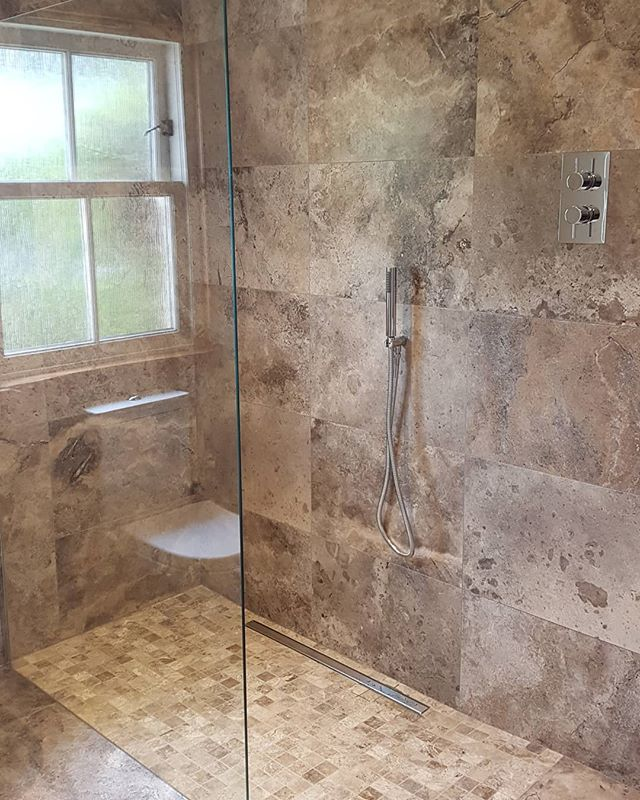 Silver Travertine Wetroom