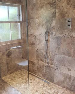 Silver Travertine Wetroom