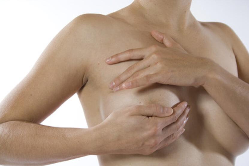 Brustmassage für die Frau