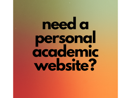 Need an academic website?