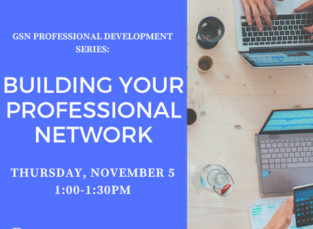 Upcoming Workshop: Building Your Professional Network