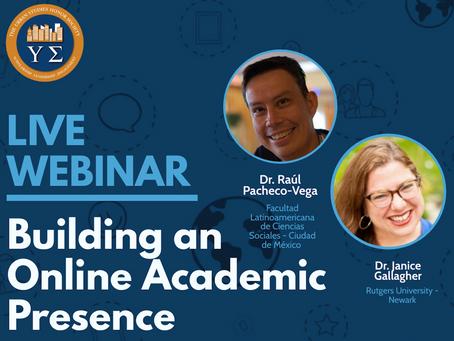 VIDEO: Building An Online Academic Presence Webinar (11/24/20)