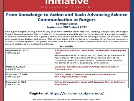 From Knowledge to Action and Back: Advancing Science Communication at Rutgers