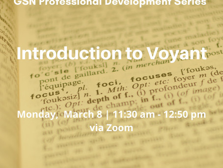 Register Today: Introduction to Voyant! (3/8)