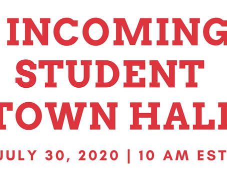 ICYMI: Incoming Graduate Students Town Hall