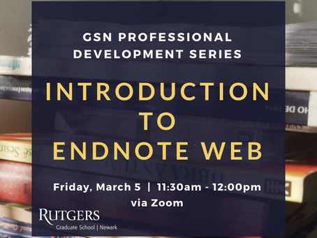 Register Today: Introduction to Endnote Web! (10/28)