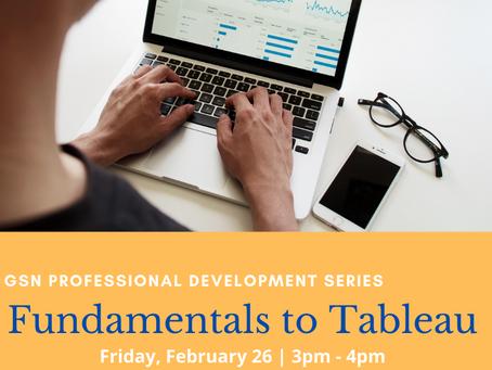 Upcoming Workshops: Data Management & Analysis Tools