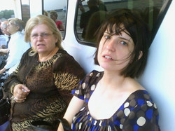 Dot and mom on boat