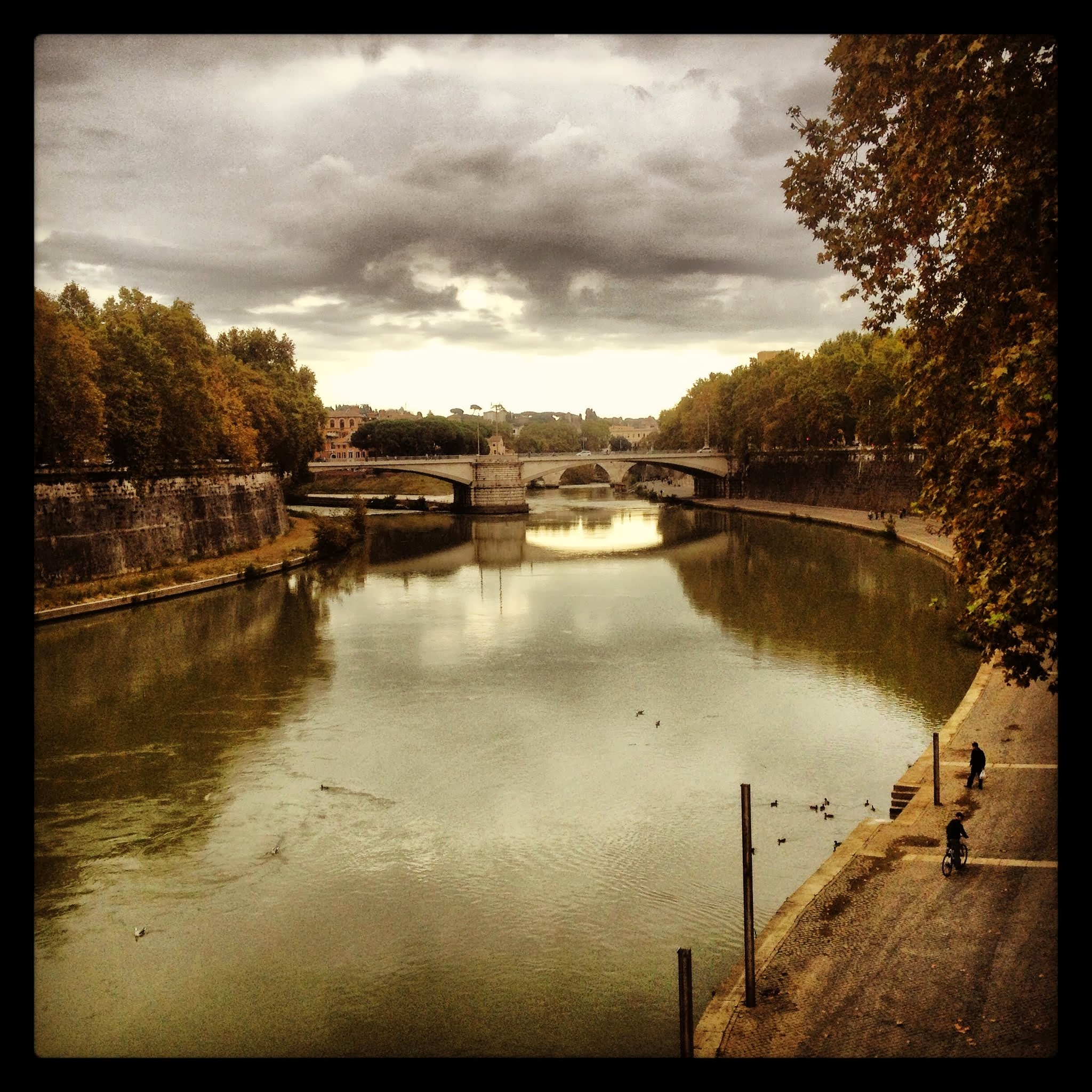 Crossing a Bridge in Rome