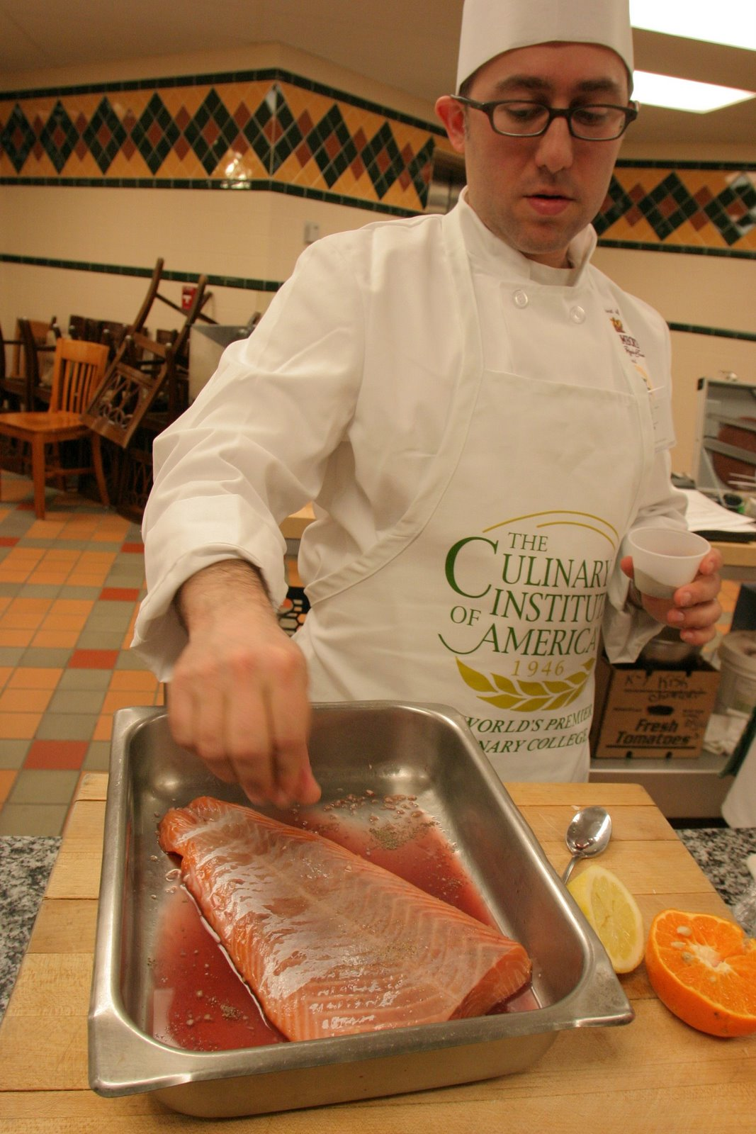 Cooking Salmon at the CIA