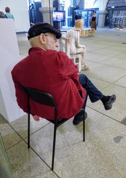 Dad sleeps in gallery