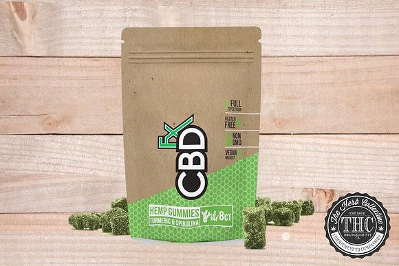CBDfx | CBD Gummies Antioxidant w/ Tumeric & Spirulina 40mg | 8ct Pouch