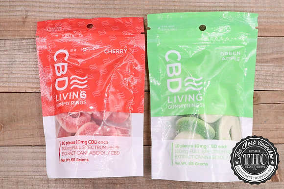 CBD LIVING WATER | CBD Gummy Rings 100 mg