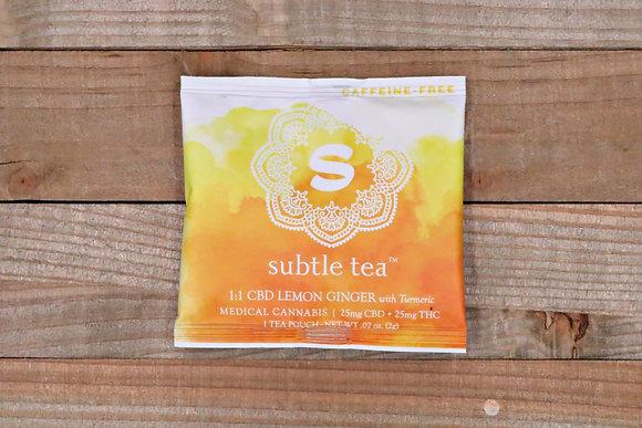 SUBTLE TEA | 1:1 CBD Lemon Ginger 50mg
