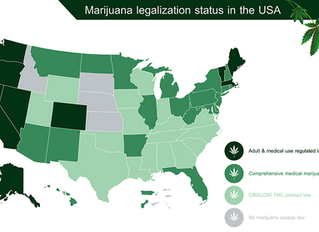 U.S. States with Legal Recreational Marijuana
