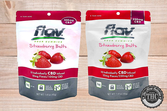 FLAV | CBD Strawberry Belts | 100mg - 250mg