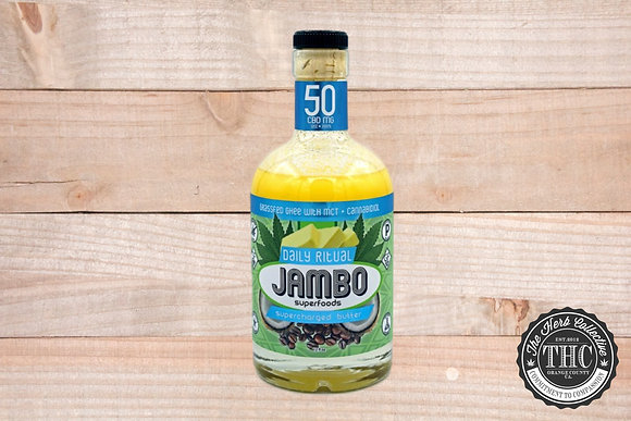 JAMBO SUPERFOODS | CBD Daily Ritual Butter Grassfed Ghee + MCT Oil 50mg - 200mg