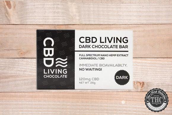 CBD LIVING   CBD Dark Chocolate Bar 120mg