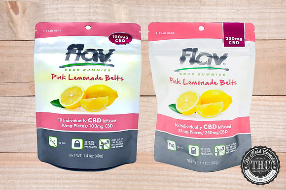 FLAV | CBD Pink Lemonade Belts | 100mg - 250mg