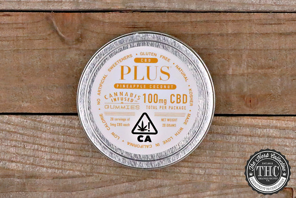 PLUS GUMMIES | CBD Pineapple & Coconut Gummies 100mg