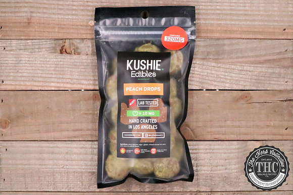KUSHIE | Peach Gummy Drops 320mg
