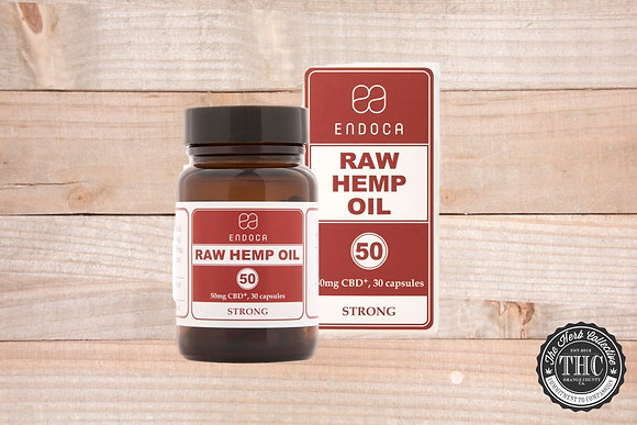 ENDOCA | CBD Raw Hemp Oil Capsules 1500mg