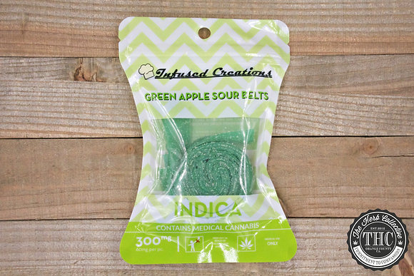 INFUSED CREATIONS | Sour Apple Belts 300mg