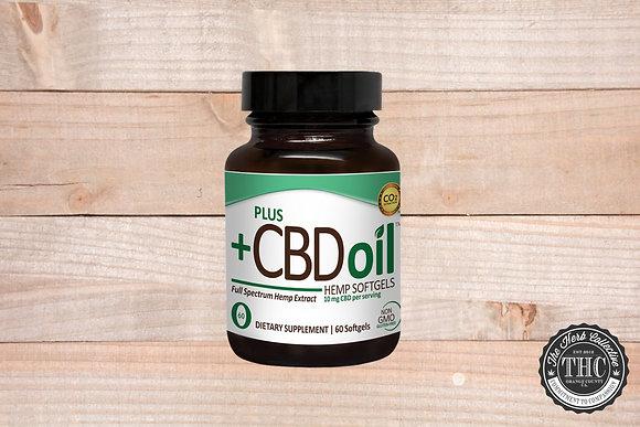 PLUS+ CBD | Total Plant Complex CBD Softgels 100mg - 300mg