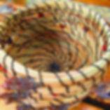 Fun little woven basket made from a joyf