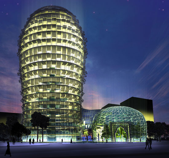 Biomimétisme immeuble thermorégulé