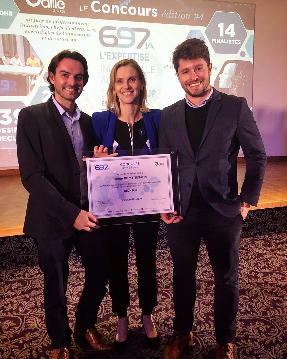 Agnès Pannier-Runacher, Secrétaire d'État à l'Industrie, remettait le premier prix du concours d'innovation à Bioxegy pour son action dans le biomimétisme