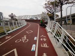 Cycle bridge in Kaohsiung, Taiwan