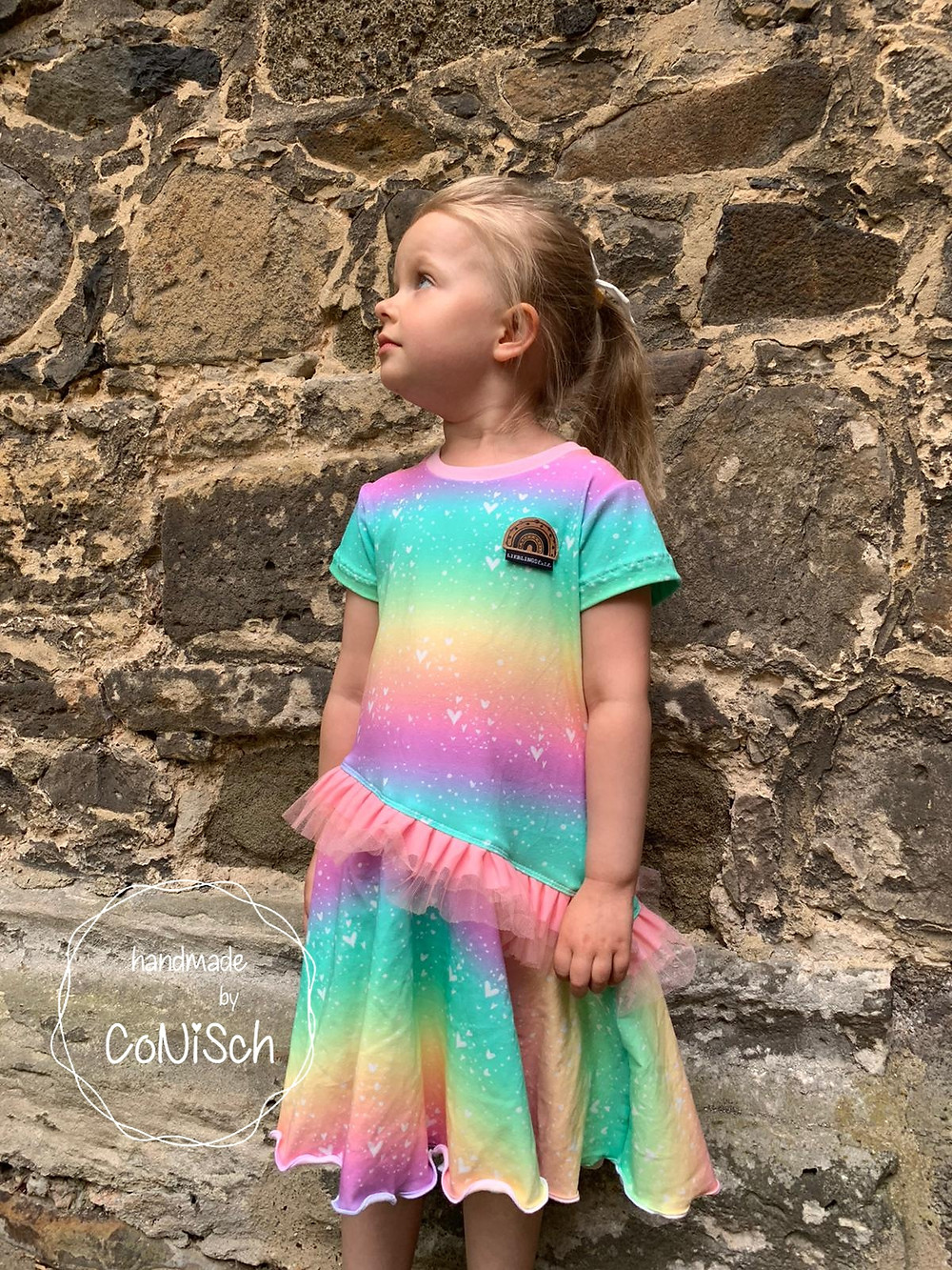 Sommerkleid mit kurzen Armen aus Jersey
