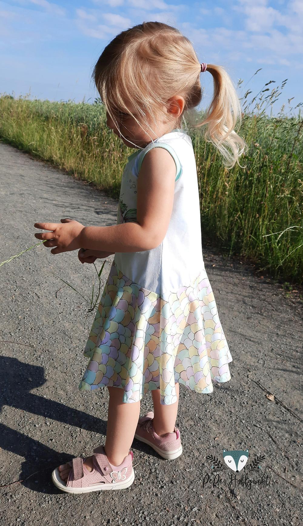 Sommerkleid aus Jersey für Mädchen