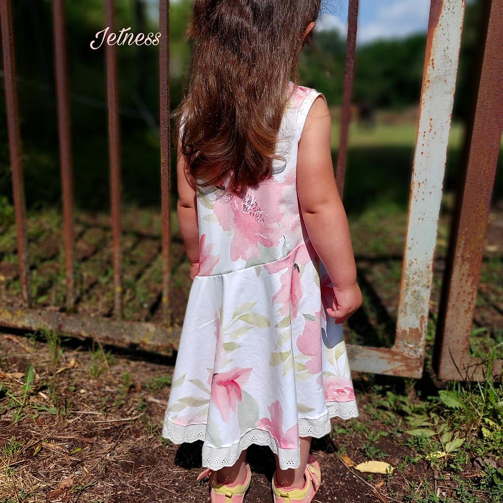 Sommerkleid aus Jersey für Kinder selber nähen