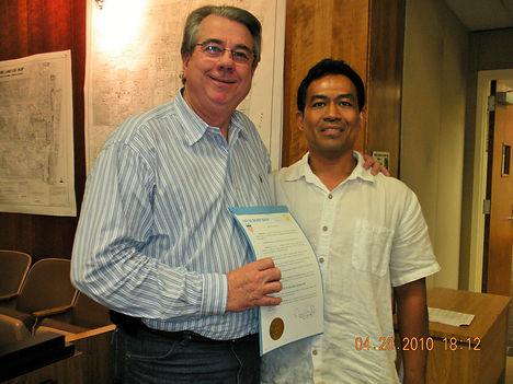 Sifu Tong & Mayor of Delray Beach