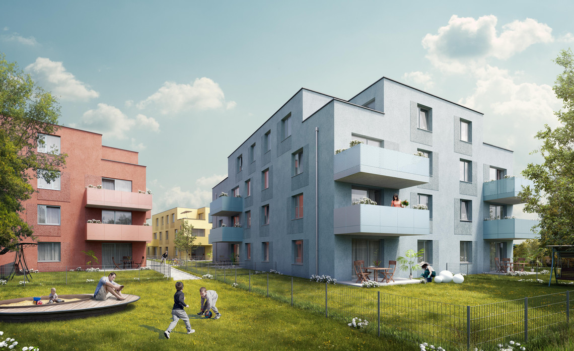 Competition for residential building in Tulln 1st place
