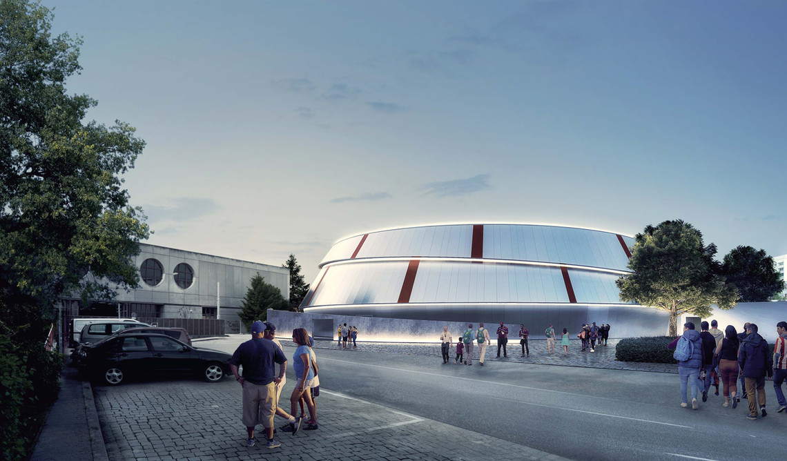 Competition entry for a sports hall, Vienna