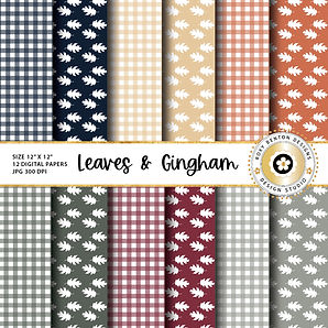 Leaves and Gingham Paper-01.jpg
