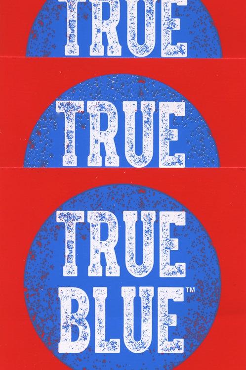 "3 Pk ""True Blue"" Stickers"