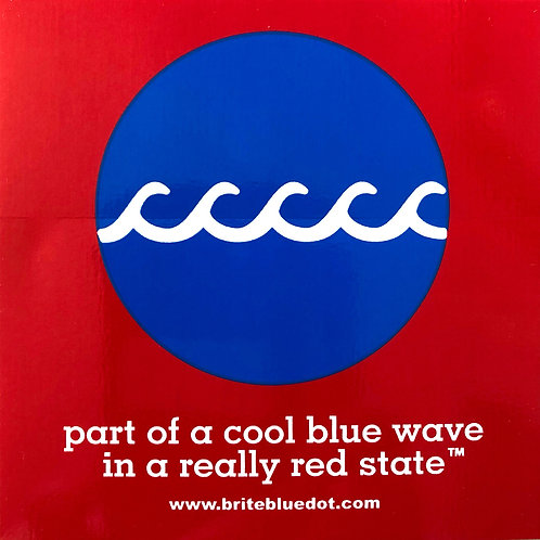 3- Pack Blue WAVE Stickers