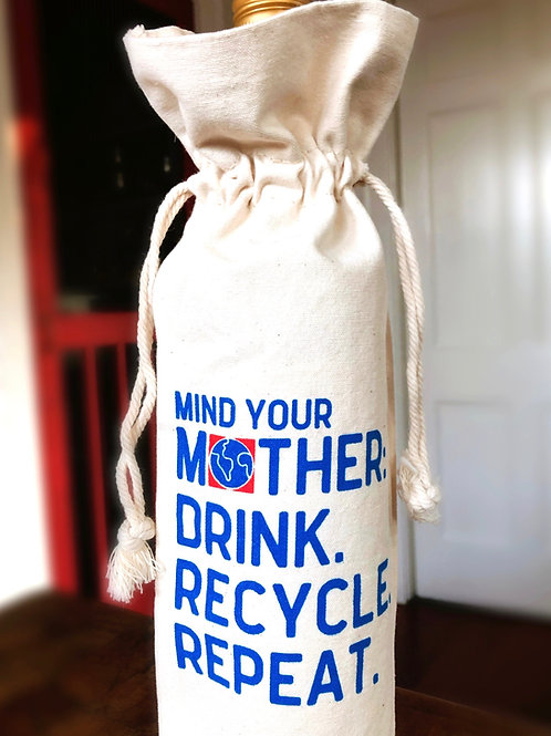 Blue Dot Recycle Wine Tote