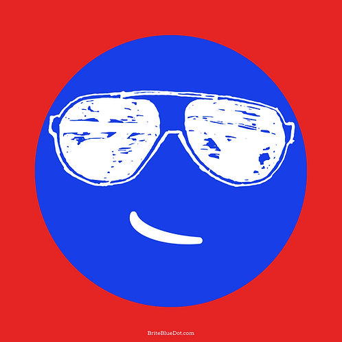 Blue Dot/Joe Shades Stickers (2-Pack)
