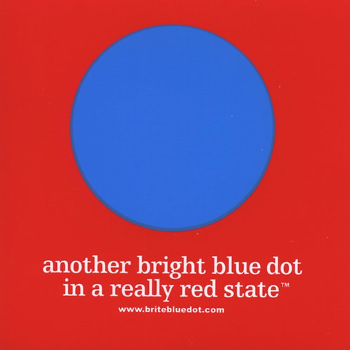 "3-Pack ""another bright blue dot..."" Stickers"
