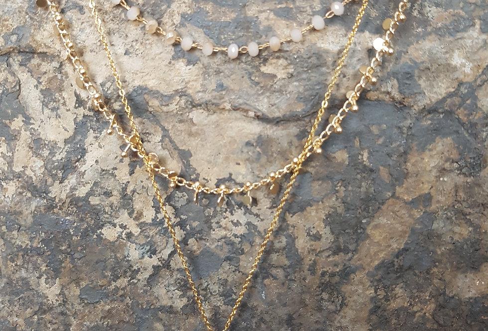 Aurora Necklace-Champagne